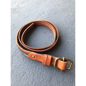 J. Crew Leather Skinny Belt
